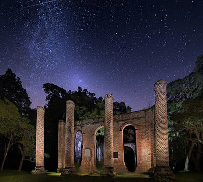 Mark Andrew Thomas Royalty-Free and Rights-Managed Images - Old Sheldon Church Ruins by Mark Andrew Thomas