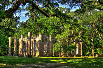 Photograph - Old Sheldon Church Ruins South Carolina Art by Reid Callaway