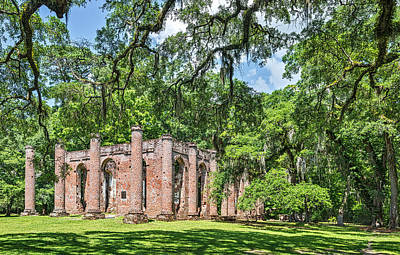 Old Sheldon Church Ruins - South Carolina Photograph Original by Duane Miller
