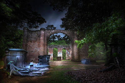 Photograph - Old Sheldon Graveyard by Mark Andrew Thomas