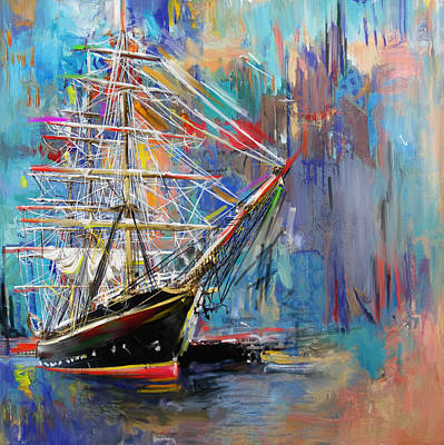 Painting - Old Ship 226 1 by Mawra Tahreem