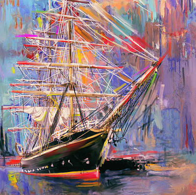 Painting - Old Ship 226 4 by Mawra Tahreem