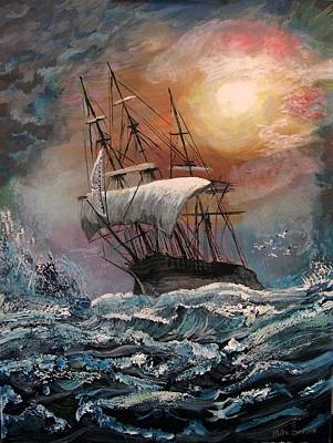 Painting - old Ship of Zion by Mike Benton