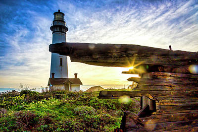 Photograph - Old Ship Wreck And Lighthouse by Garry Gay