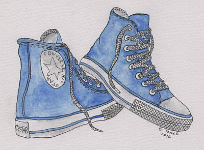 Old Shoe Art Print by Debbie Jones