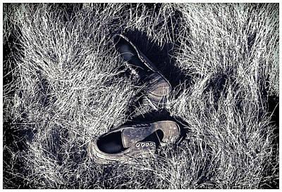 Digital Art - Old Shoes by Gary De Capua