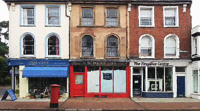 Digital Art - Old Shop Facades by Julian Perry