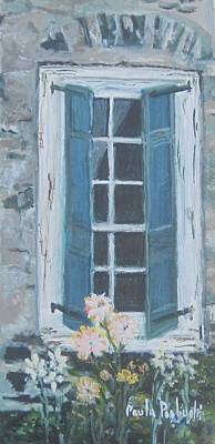 Painting - Old Shutters by Paula Pagliughi