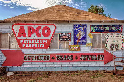 Old Signs Tucumcari Trading Post Art Print by Diana Powell