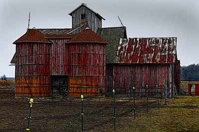 Photograph - Old Silos by Kathleen Stephens