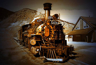 Old Town Digital Art - Old Silverton by David Lee Thompson