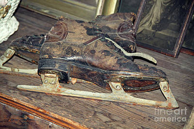 Photograph - Old Skates by Inspirational Photo Creations Audrey Woods
