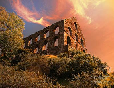 North Wales Digital Art - Old Slate Mill In Cwmystradllyn  by Chris Evans