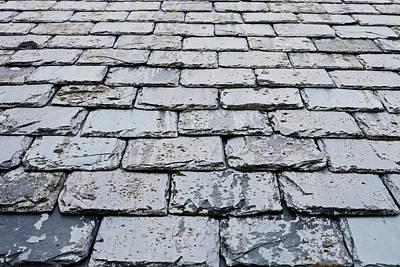 Slate Pattern Photograph - Old Slate Tiles by Tom Gowanlock