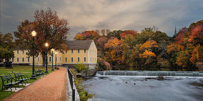 Old Slater Mill Art Print by Robin-Lee Vieira