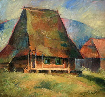 Landscape Artwork Painting - Old Small House by Arthur Braginsky