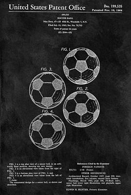Athletic Mixed Media - Old Soccer Ball Patent by Dan Sproul