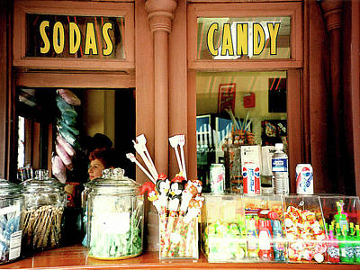 Photograph - Old Soda And Candy Store - Ca. 1950s by Merton Allen