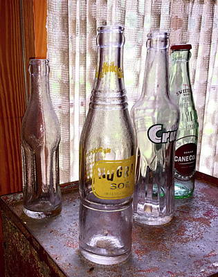 Photograph - Old Soda Bottles by Denise Mazzocco