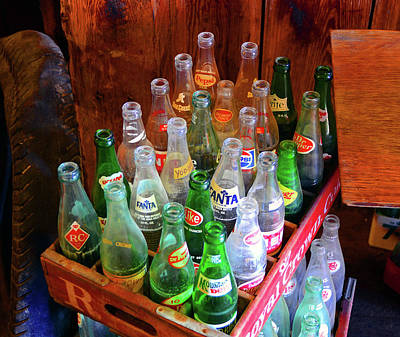 Photograph - Old Soda Pop Bottles by David Lee Thompson