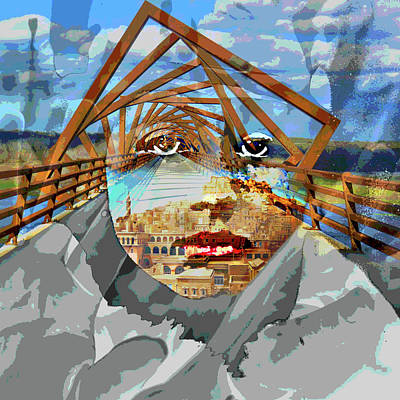 Digital Art - Old Soul Art Vintage Roads by Mary Clanahan