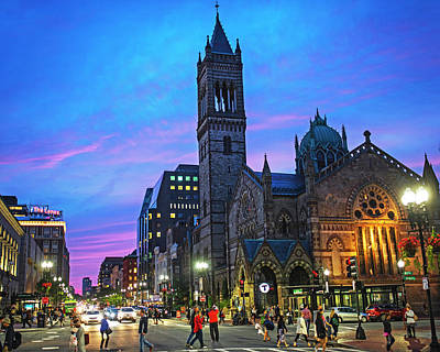 Photograph - Old South Church At Sunset Boylston Street Boston Ma by Toby McGuire