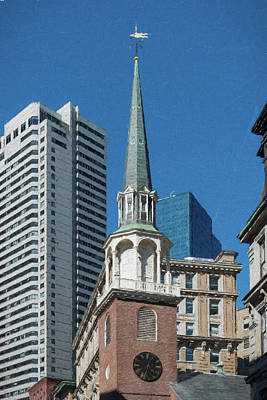 Painting - Old South Meeting House Boston by Thomas Logan