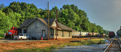 Photograph - Old South Trains Madison Historic Train Station by Reid Callaway