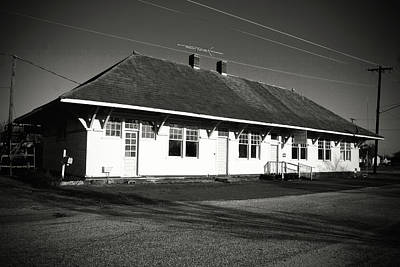 Photograph - Old Southern Railway Depot B W 2 by Joseph C Hinson Photography
