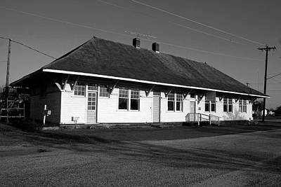 Photograph - Old Southern Railway Depot B W by Joseph C Hinson Photography