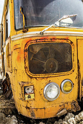 Photograph - Old Soviet Bus by SR Green