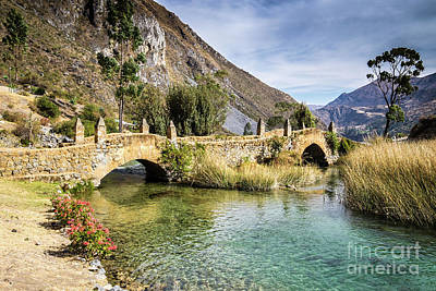 Photograph - Old Spanish Bridge In Peru by Olivier Steiner