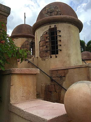 Photograph - Old Spanish Fort Towers by Denise Mazzocco