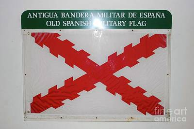 Photograph - Old Spanish Military Flag by Gary Wonning