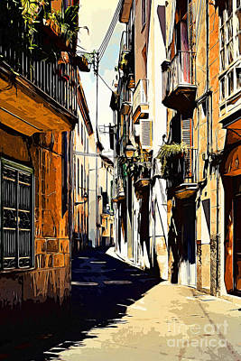 Old Spanish Street Art Print