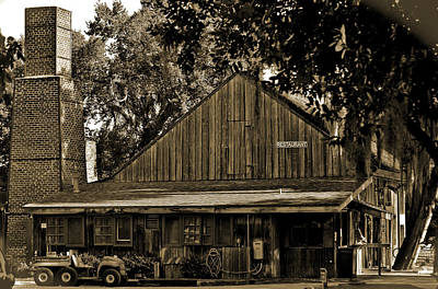 Old Spanish Sugar Mill Sepia Print by DigiArt Diaries by Vicky B Fuller