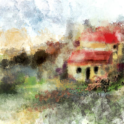 Digital Art - Old Spanish Village by Jessica Wright