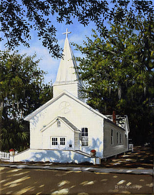 Art Print featuring the painting Old St. Andrew Church by Rick McKinney