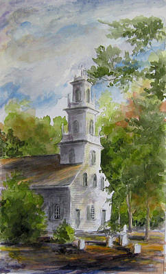 Old St. David's In The Fall Art Print by Gloria Turner