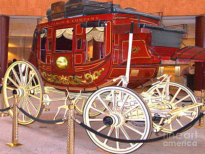 Photograph - Old Stagecoach - Wells Fargo Inc. by Merton Allen