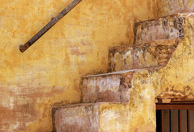 Photograph - Old Staircase At Amber Fort, Jaipur by Prakash Ghai