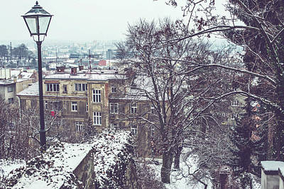 Photograph - Old Staircase In Winter Brno by Jenny Rainbow