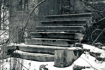 Photograph - Old Stairs To Nowhere by Jeff Severson