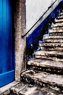 Photograph - Old Stairs With Blue by Dora Hathazi Mendes