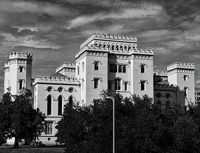 Photograph - Old State Capitol Of Louisiana Black And White by Judy Vincent