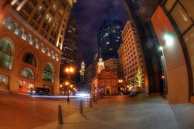 Photograph - Old State House - Boston At Night by Joann Vitali