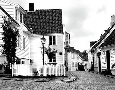 Old Stavanger I Art Print by Helene Sobol