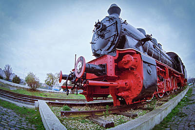 Photograph - Old Steam Locomotive Close Up by Vlad Baciu