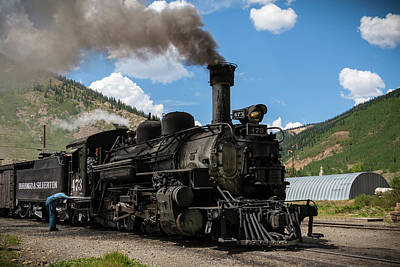 Photograph - Old Steam Locomotive by K Pegg