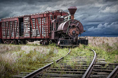 Photograph - Old Steam Locomotive Train Engine At 1880 Town South Dakota by Randall Nyhof